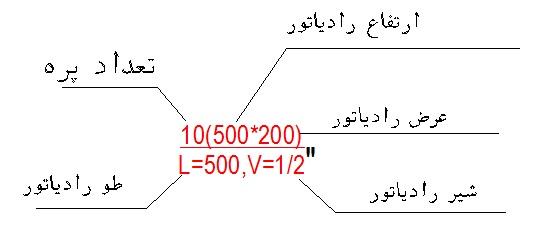 رسم لوله کشی حرارت مرکزی