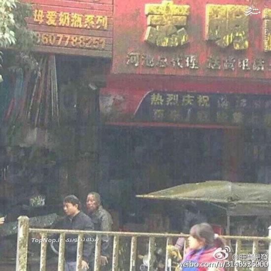 ترکیدن تانکر فاضلاب در وسط خیابان