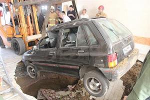 پارکینگ،خودروی سواری را بلعید